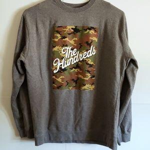 The Hundreds grey camo crew neck sweater XL